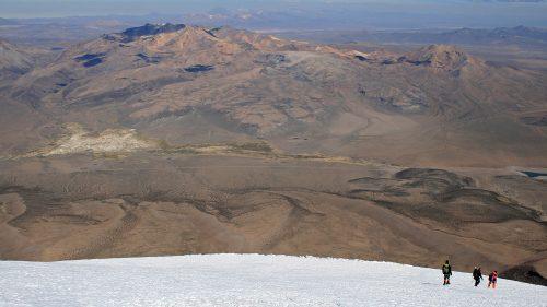 Descenso del Parinacota