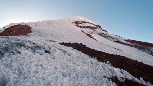 Rampas hacia la cumbre del Chimborazo