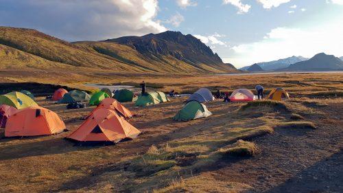 Campamento en Álftavatn