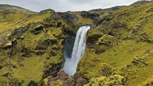 Cascada bajando de Fimmvörðuháls
