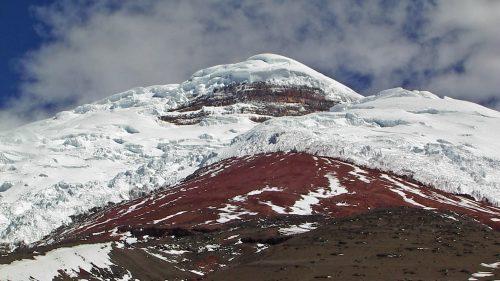 Vista general del glaciar del Cotopaxi