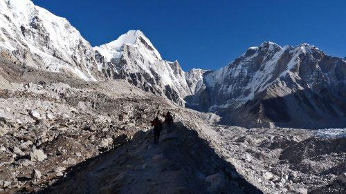 Morrenas cerca del Campo Base del Everest