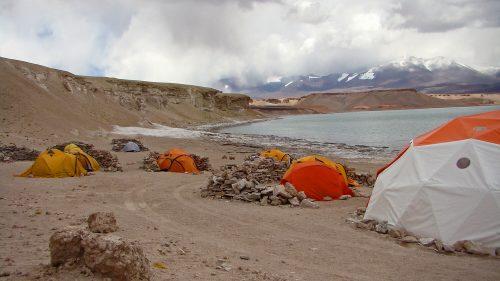 Campo Base en Laguna Verde