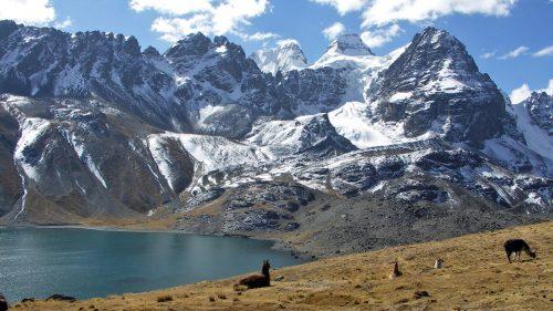 Laguna Chiar Khota, macizo del Condoriri