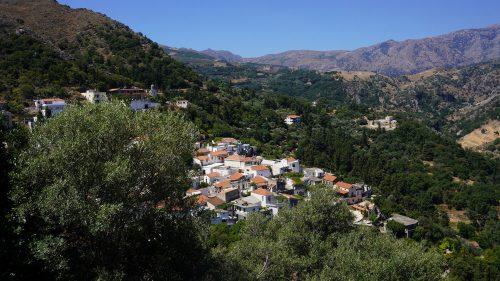 Pueblo del centro de Creta