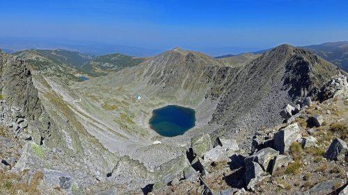 Panorama desde la cima del Musala