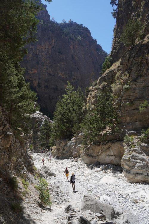 Caminando la zona más espectacular de Samaria