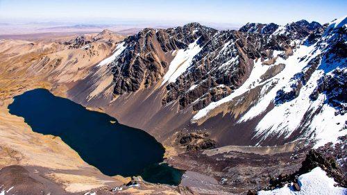 Laguna Juri Khota desde la cima del Cerro Austria