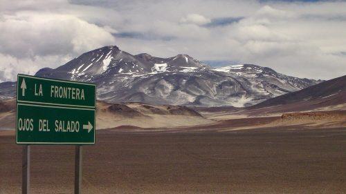 Carretera de acceso al Ojos del Salado