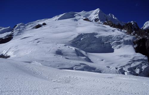 Vista del glaciar desde el Campo Alto