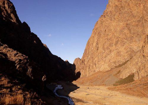 Cañón de Yolyn Am, desierto del Gobi