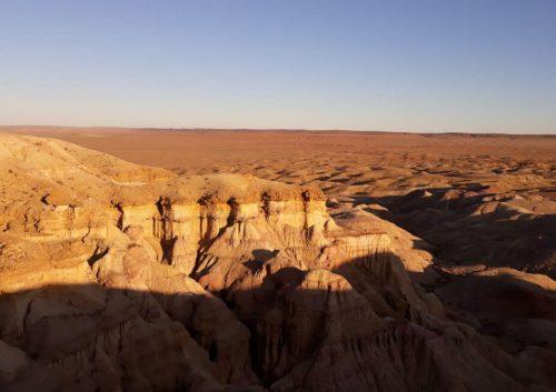 Acantilados de Tsagaan Suvarga, desierto del Gobi