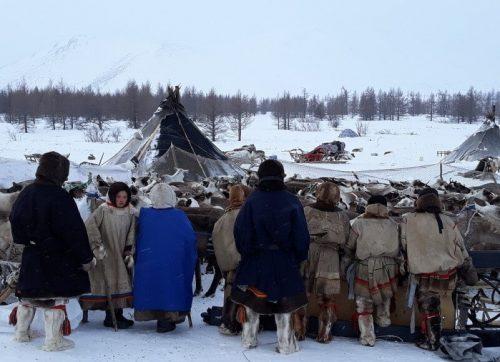 Nenets junto al campamento