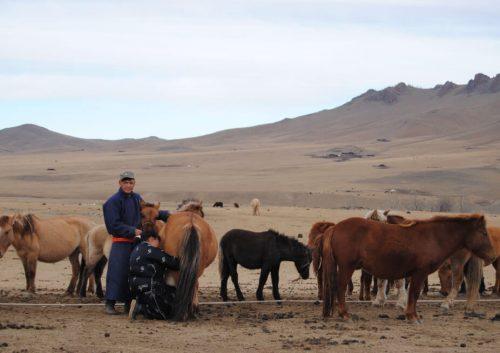 Pastores nómadas del valle de Orkhon