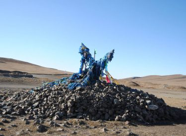 Un ovoo tradicional mongol