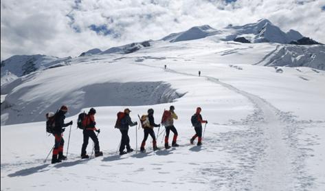 Glaciar somital del Mera Peak