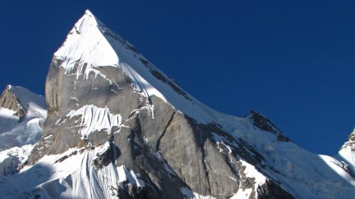 Close view of Laila Peak