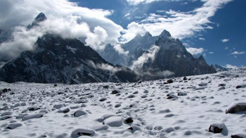 Concordia camp and Gasherbrum V