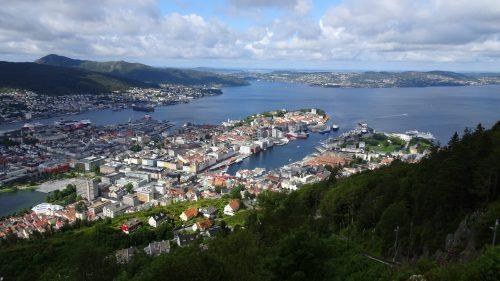 Mirador monte Floyen, Bergen