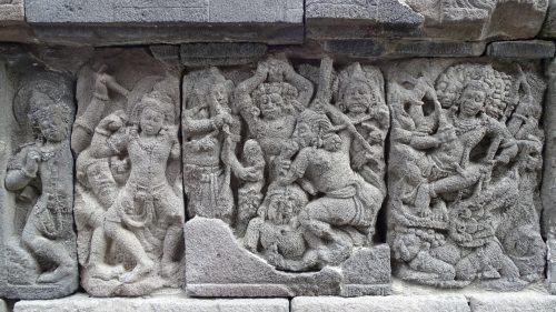 Detalle relieve en Prambanan