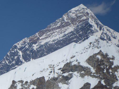 Detalle de la pirámide somital del Everest