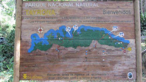Ruta Parque Nacional Tayrona