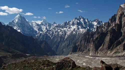 Hushe Valley and Masherbrum glacier