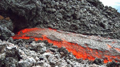 Lava en el volcán Pacaya