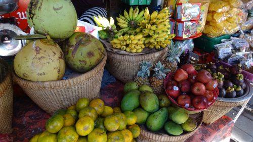 Mercado de frutas en Bali
