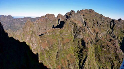 Panorama desde el Pico Aireiro al Pico Ruivo