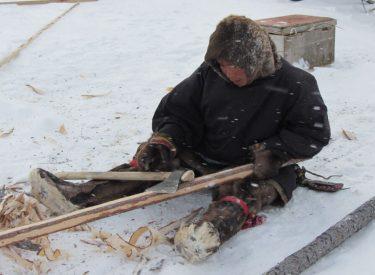 Construyendo un trineo de madera
