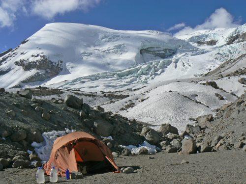 Campamento en el Coropuna