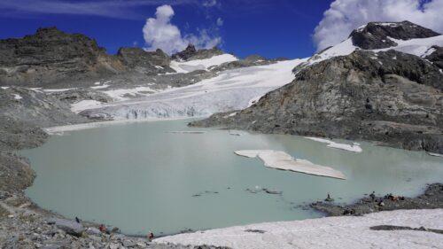 Lago y Glaciar du Grand Méan